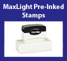 MaxLight Pre-Inked Rubber Stamps