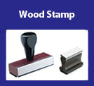 Wood Handled Rubber Stamp