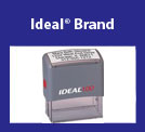 Ideal® Self-Inking <br /> Rubber Stamp