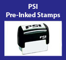 PSI Pre-Inked Stamps