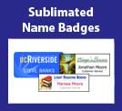 Sublimation, sublimate, sublimating, sublimated name tags, sublimated name badges, name badge, namebadge, nametag