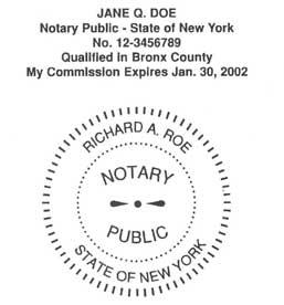 Riverside Rubber Stamp Engraving Notary Sample New York