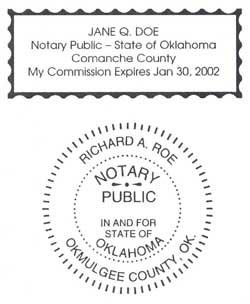 Riverside Rubber Stamp Engraving Notary Sample Oklahoma